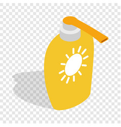 bottle of suntan cream isometric icon vector image