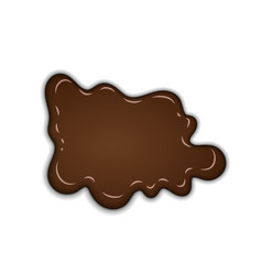 Chocolate sweet splash chocolate liquid blot vector