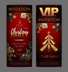 christmas poster with golden champagne bottles vector image