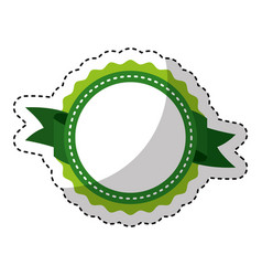 Circle seal stamp icon vector