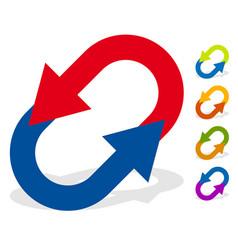 Circular arrows for change reset swap turn vector