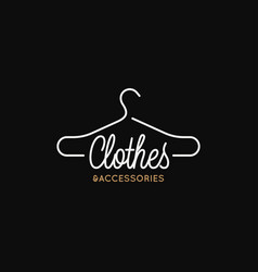 clothes and accessories logo linear vector image