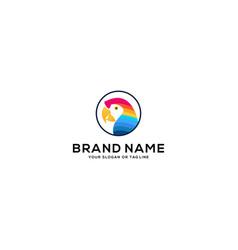 Colorful parrot logo design vector