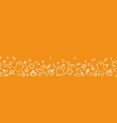 cute hand drawn halloween seamless pattern vector image