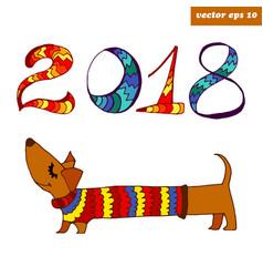 dachshhund vector image