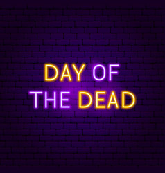 Day of the dead neon sign vector