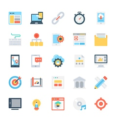Design and Development Colored Icons 1 vector