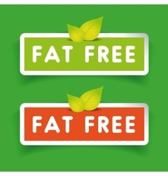 Fat free label set vector