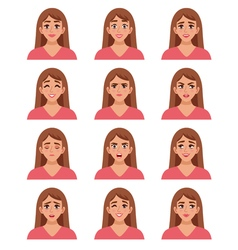 Female Go-to Faces Set vector image vector image