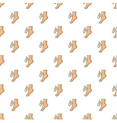 foot massage pattern seamless vector image