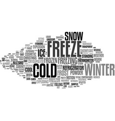 Freeze word cloud concept vector