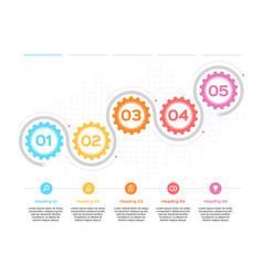 gear infographic production progress development vector image
