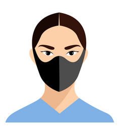 Girl in medical face mask concept coronavirus vector