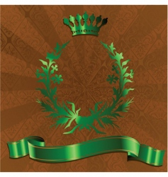 green king crown vector image