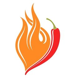 Hot chili pepper vector