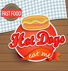 Hot dog concept vector image
