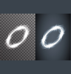 illumination circule bright glow electric effect vector image