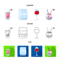 isolated object liquor and restaurant symbol vector image