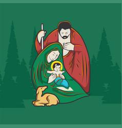 jesus was born vector image