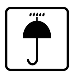 Keep dry icon vector