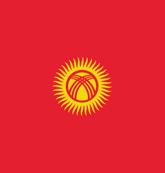 Kyrgyzstan flag for independence day and vector