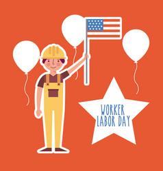 Labor day card vector