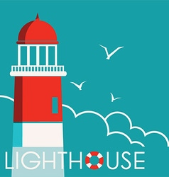 Lighthouse background with text vector image