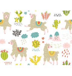llama pattern vector image