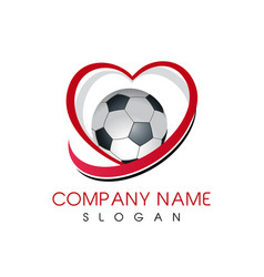 Love soccer logo vector