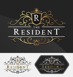 Luxurious Royal Logo Re-sizable Design Template vector image