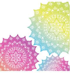 Mandala india culture icon vector