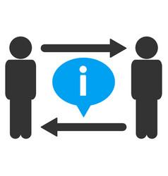 men information exchange icon vector image