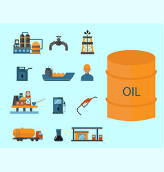 Mineral oil petroleum extraction production vector