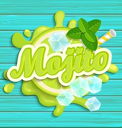 Mojito label splash vector