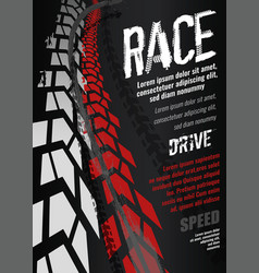 Motorcycle tire poster vector