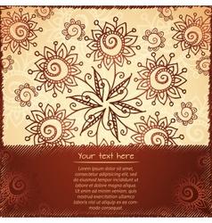 Ornate doodle flowers background vector image