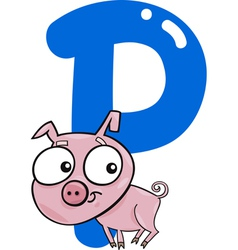 P for pig vector image vector image