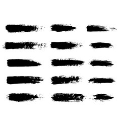 Painted grunge stripes set black labels vector