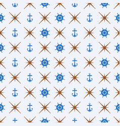 Pattern 0081 wheel and anchor vector