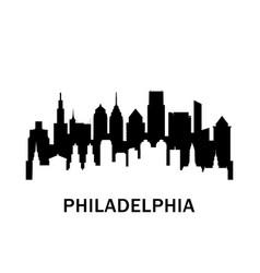 Philadelphia city skyline negative space city vector