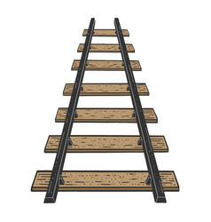 Railway line sketch vector