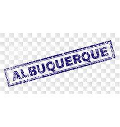 Scratched albuquerque rectangle stamp vector