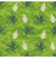 Seamless floral background Yucca flowers vector