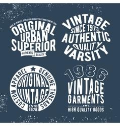 Set vintage stamp vector image