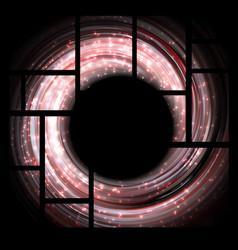 shining pink bokeh in frames vector image