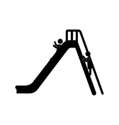 Slider with stairs vector
