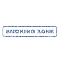 Smoking zone textile stamp vector