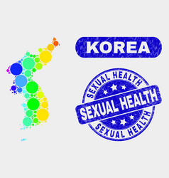 Spectral mosaic korea map and distress sexual vector