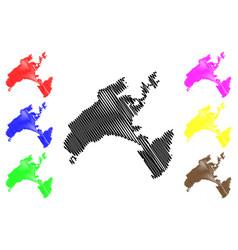 vaud map vector image