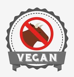 vegan product design vector image